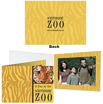 Standard Custom Printed Full Color Photo Folders - 4x6 Vertical