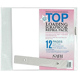 MBI 6x6 White Scrapbook Refill Pages