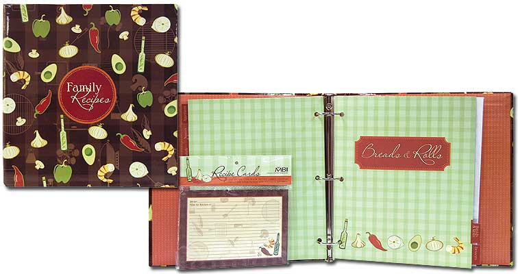 MBI Recipe Scrapbook Kit Family Recipe