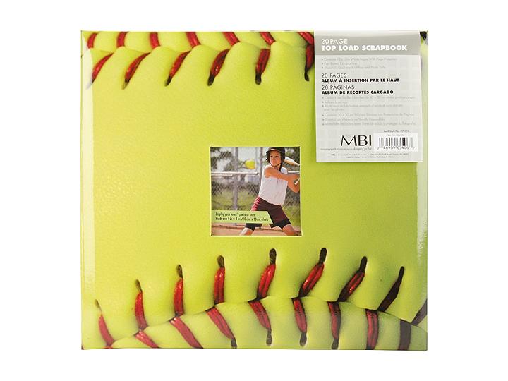 Mbi 12x12 Softball Scrapbook Pfflexremovablecoveralbum