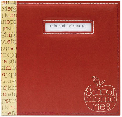 MBI Photo Albums MBI 12x12 Red Apple School Memories Scrapbook at Sears.com