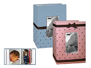 Pioneer BEM-100 Baby Embroidered Fabric Frame 4x6 Photo Album
