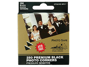 Pioneer Black Photo Corners