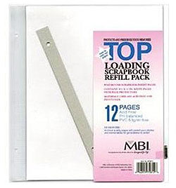 MBI 8-1/2x11 Scrapbook Memory Collection Refill Pages