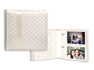 Pioneer DA-200FDR Ivory Fabric Wedding Photo Album