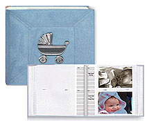 Pioneer DA-200MAB 4x6 Baby Photo Album with Metal Applique