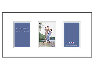 MCS 10x20 Format Shadow Mat Frame w/Three 4x6 Openings