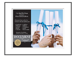 MCS Format Shadow Mat Document Frame 11x14 For 8.5x11