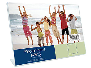 Bent Acrylic Picture Frames - Single Horizontal