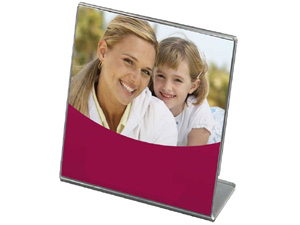 Bent Acrylic Frame 5x5 Single Vertical