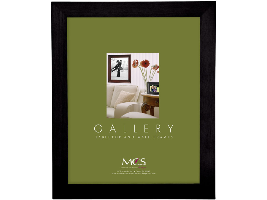 MCS 4x6 Gallery Flat Top Wood Picture Frame - Black