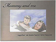 Lawrence Mommy & Me 4x6 Brushed Metal Picture Frame