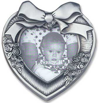 Lawrence Pewter Heart Frame 2x2