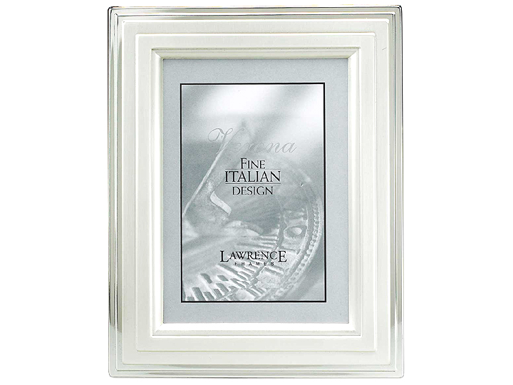 Lawrence Brushed Silver Step 4x6 Frame