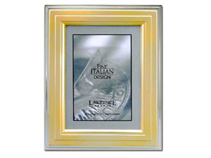Lawrence Verona Gold & Silver Step Picture Frame 4x6