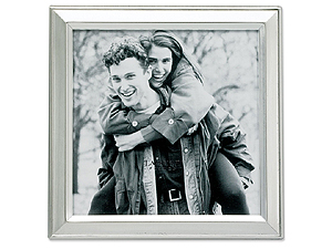 Lawrence 5x5 Brushed Silver Plated Picture Frame