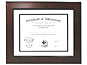Lawrence 11x14 Bevel Mat Mahogany Certificate Frame For 8.5x11