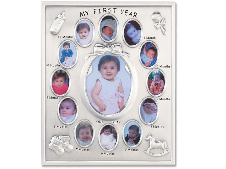 Lawrence Silver Plated Baby First Year Frame