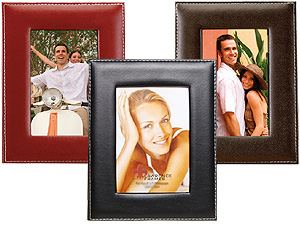 Lawrence Stitched Leather Picture Frame - 5x7