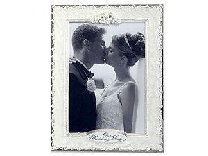 Lawrence Pearl Roses Wedding Frame - 4x6