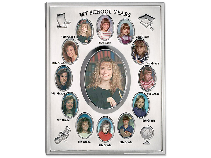 Lawrence Silver Plated School Years Frame (12 Years)