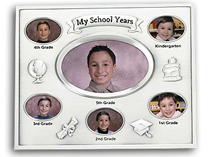 Lawrence Silver Plated School Years Frame (5 Years)