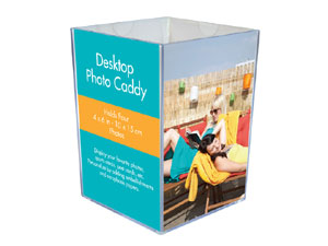 MCS Acrylic Photo Desk Caddy 4x6