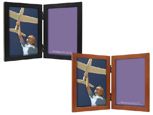 MCS Linear Wood Double Picture Frame For 4x6