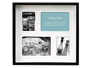 MCS 10x9 Shadow Box Collage Frame - 4 Mat Openings