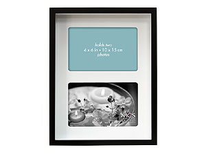 MCS 7x10 Shadow Box Collage Frame - Two 4x6 Mat Openings