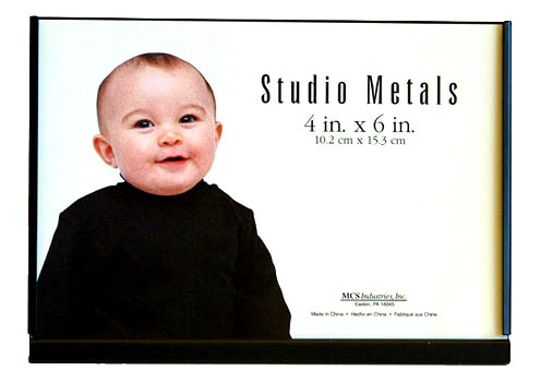 MCS 4x6 Black Studio Metal Picture Frame - Single Horizontal
