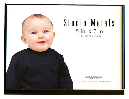 MCS 5x7 Black Studio Metal Picture Frame - Single Horizontal