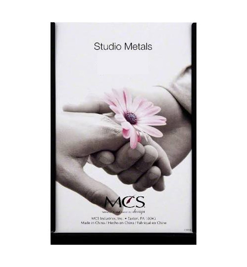 MCS 5x7 Black Studio Metal Picture Frame - Single Vertical
