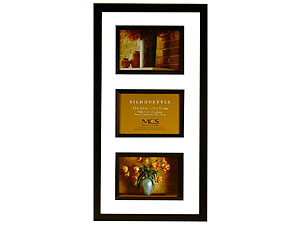 MCS Silhouettes 10x20 Photo Frame For Three 4x6
