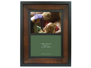 MCS Two Tone Wood Picture Frame For Two 5x7