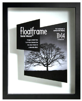 mcs 11x14 wood floating frames black allow