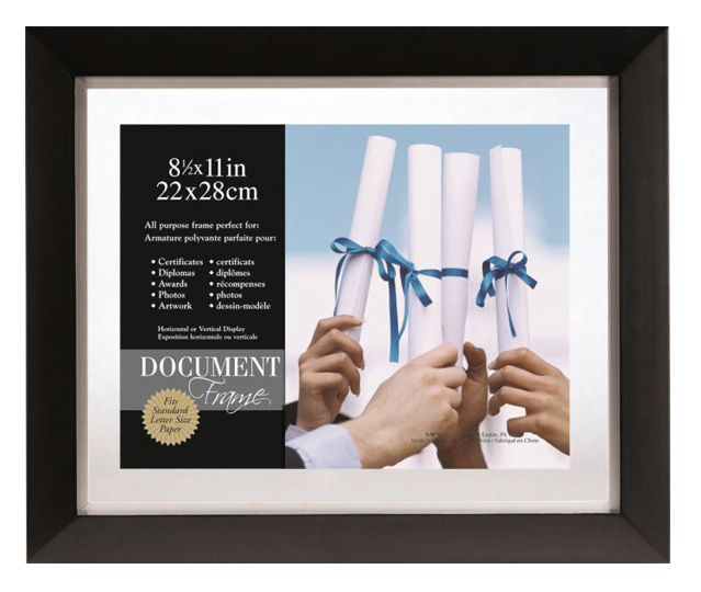 Mcs Format Shadow Mat Document Frame 11x14 For 85x11