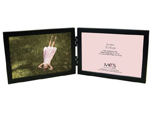 MCS Willow Wood Double Horizontal Picture Frame For 6x4