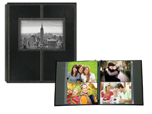 Pioneer 2-Up Sewn Frame 160 Pocket 4x6 Photo Album