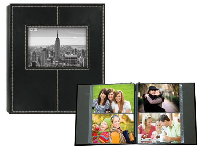 Pioneer 2-Up Sewn Frame 160 Pocket 4x6 Photo Album