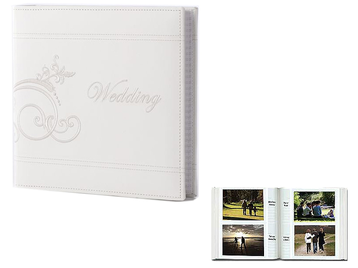 Pioneer DA-200EMPW 4x6 Embroidered Wedding Photo Album