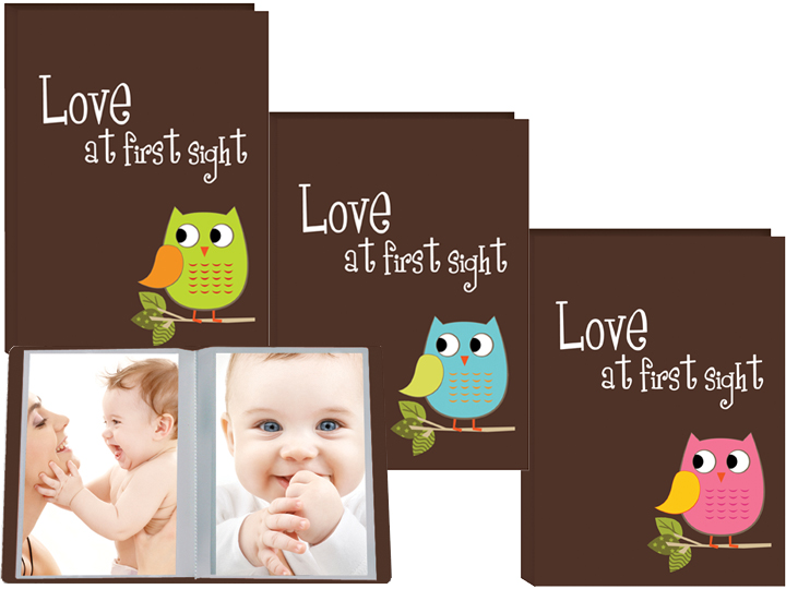 Pioneer I-46BO Assorted Owl Design Poly Photo Album