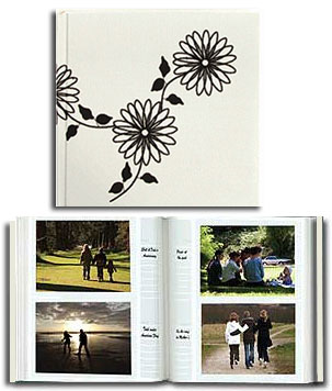 Pioneer DA-200BWFL 4x6 B&W Embroidered Photo Album