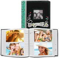 Pioneer DA-200GLAM 4x6 Jeweled Sewn Fabric Photo Album