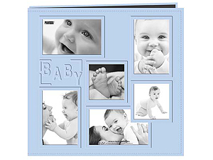 Pioneer MB-10COLBB Blue Collage Frame 12x12 Baby Scrapbook 