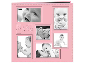 Pioneer MB-10COLBP Pink Collage Frame 12x12 Baby Scrapbook