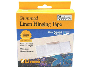 Lineco Gummed Linen Hinging Tape 1x30