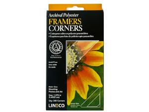 Lineco Mylar Framers Corners - Extra Large