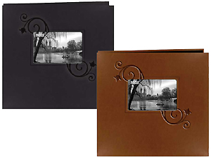 Pioneer MB-10EF Floral Frame Leatherette 12x12 Scrapbook