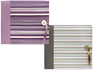 Pioneer MB-88FSH 8x8 Striped Fabric Memory Book